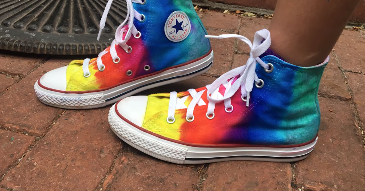 5391ad948be Easily Tie Dye Your Own Sneakers - 103.5 FM Orange