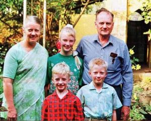 Original Small Photo of Graham Staines and his family
