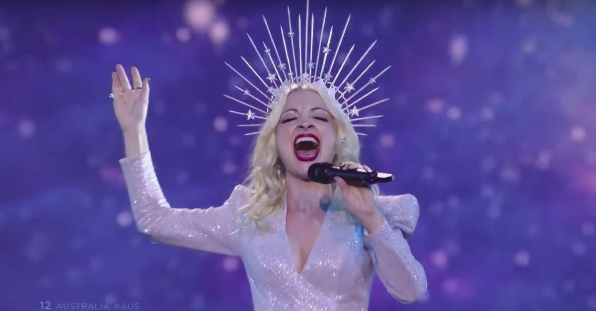 Kate Miller-Heidke singing strong at Eurovision