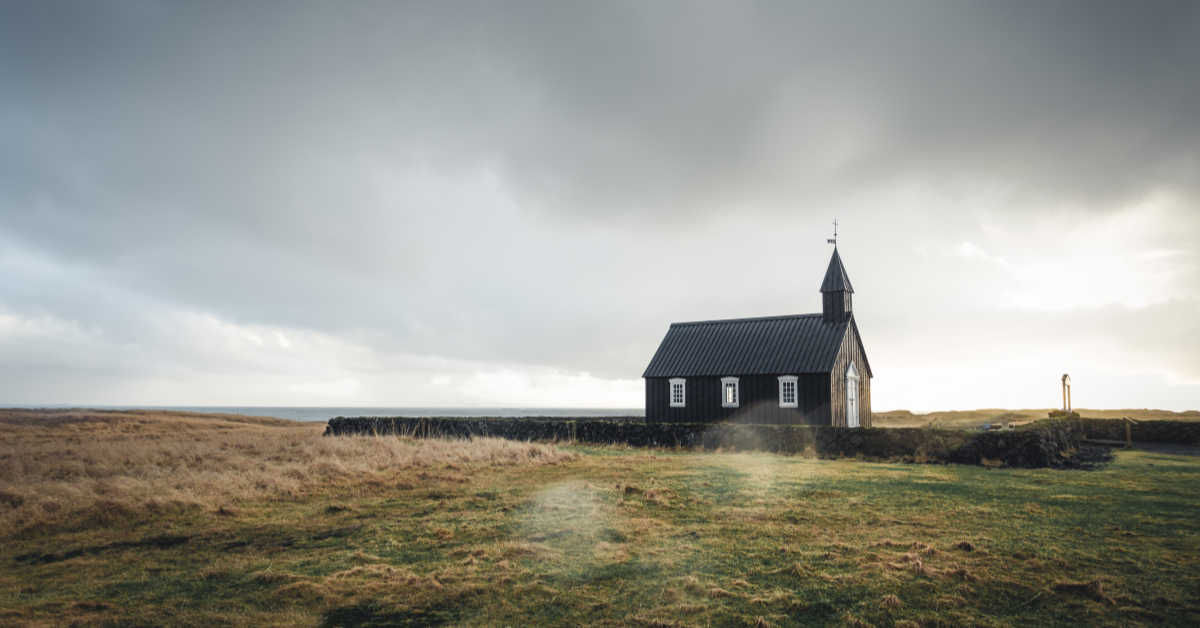 Church in the the middle of a field