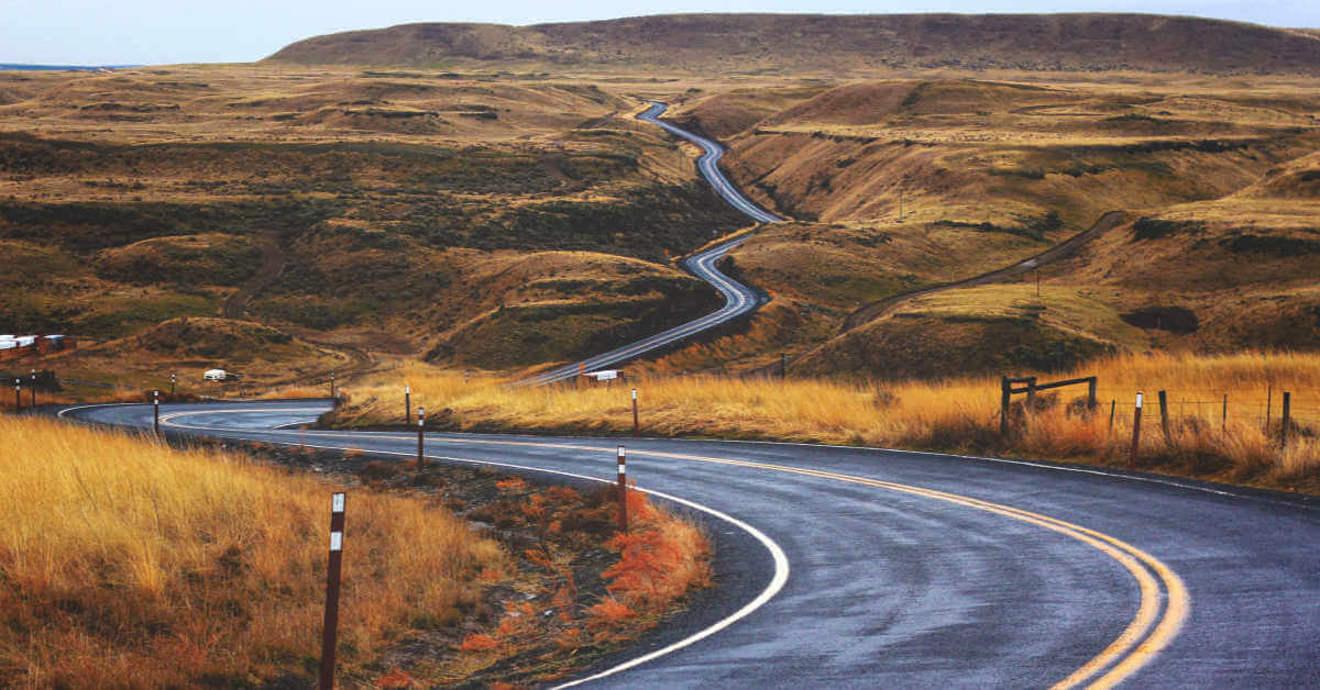 winding road through hills
