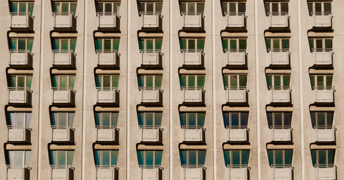 Perfect rows of windows