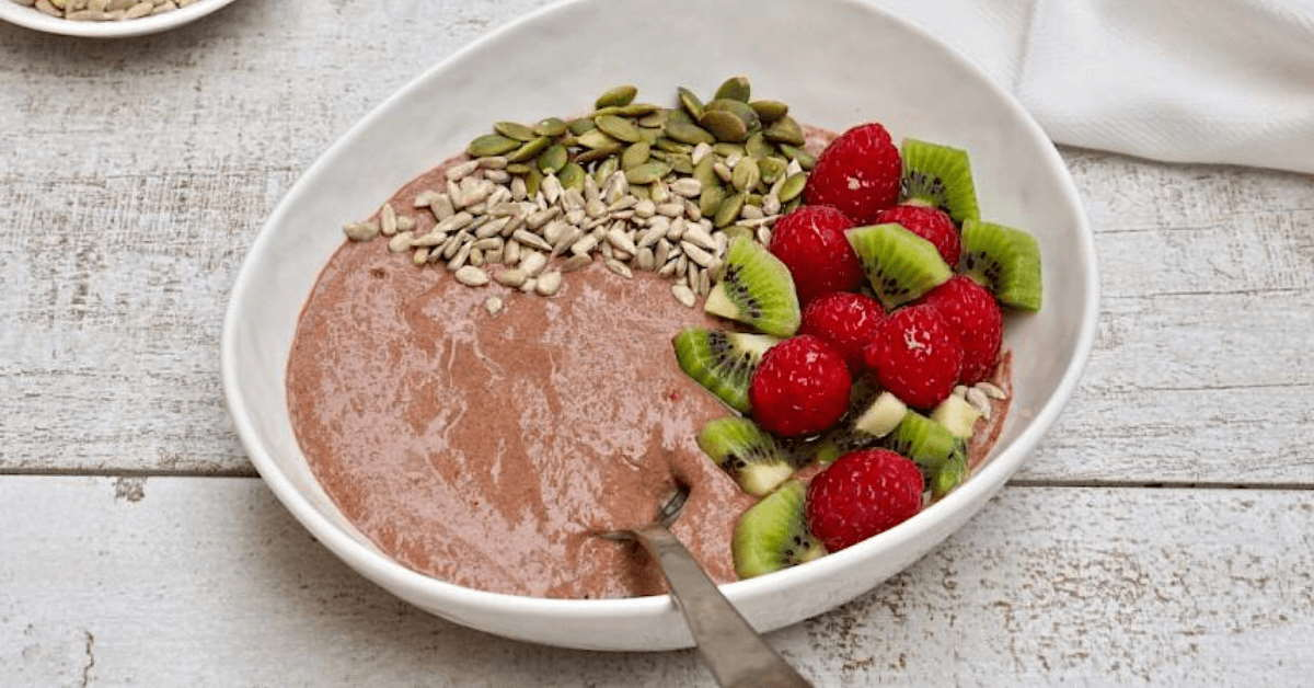 Susan joy's raspberry and chocolate chia bowl