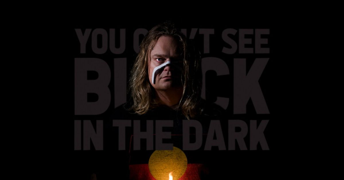 photo of scott darlow's cover art for you cant see black in the dark
