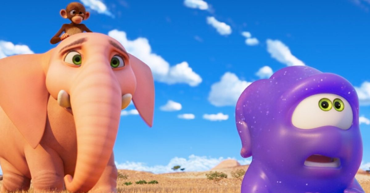 elephant, monkey and purple alien from jungle beat movie