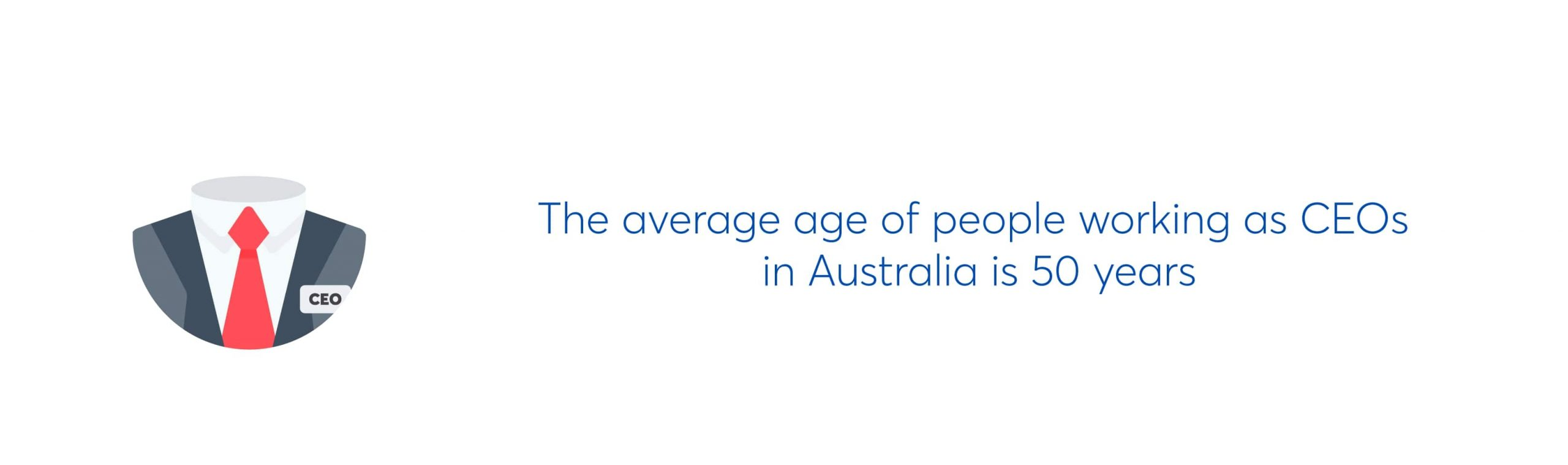 the average age of people working as CEOs in australia is 50 years