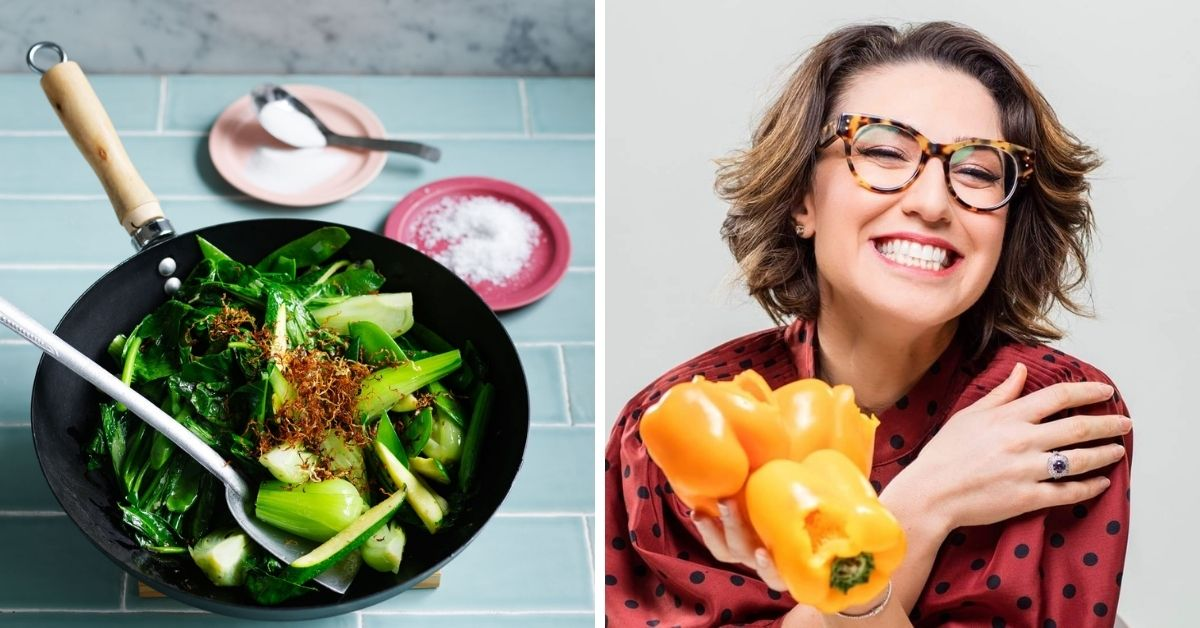 left: a bowl of vegetables, right: alice zaslavsky