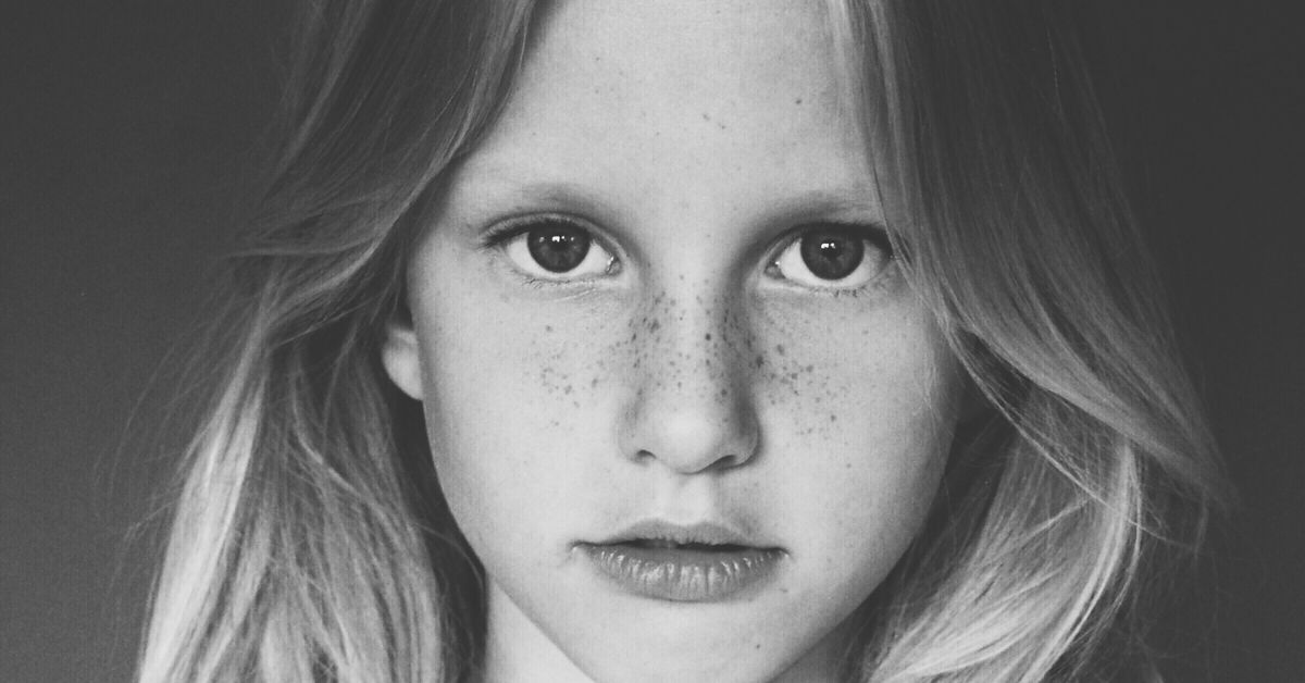 close up image of girl's face