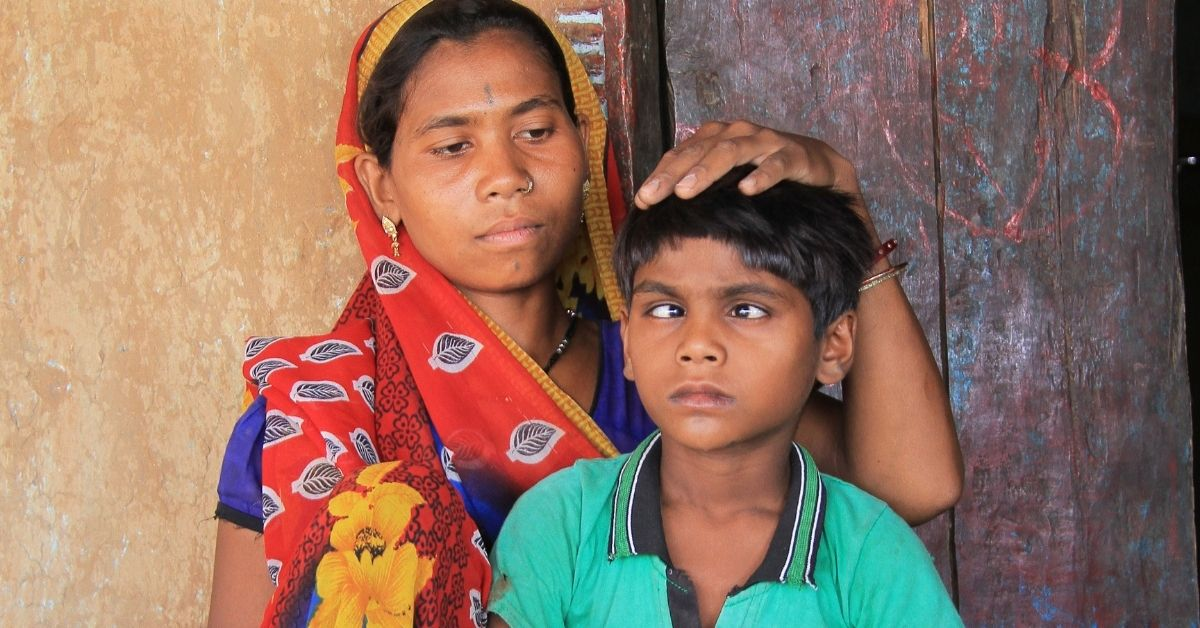 gokul who has cataracts and his mother