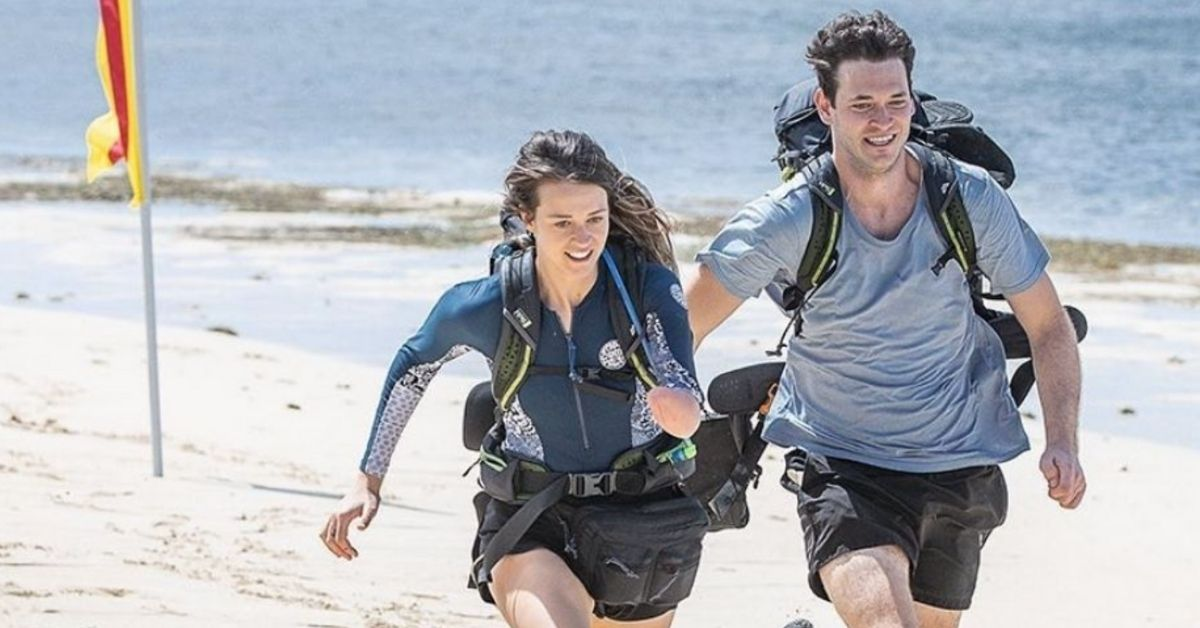 skye-blue and jake henderson in the amazing race