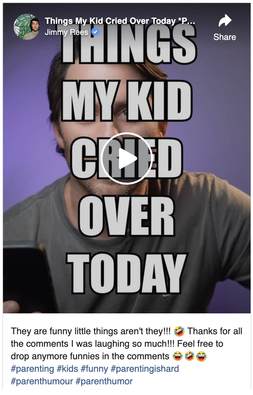 things my kid cried over today part 1